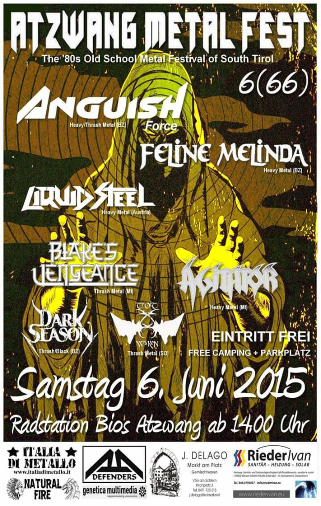 ANGUISH FORCE ATZWANG METAL FEST - Flyers - others