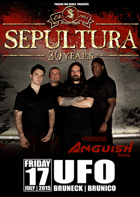 ANGUISH FORCE SEPULTURA UFO BRUNECK BRUNICO METAL - Flyers - others
