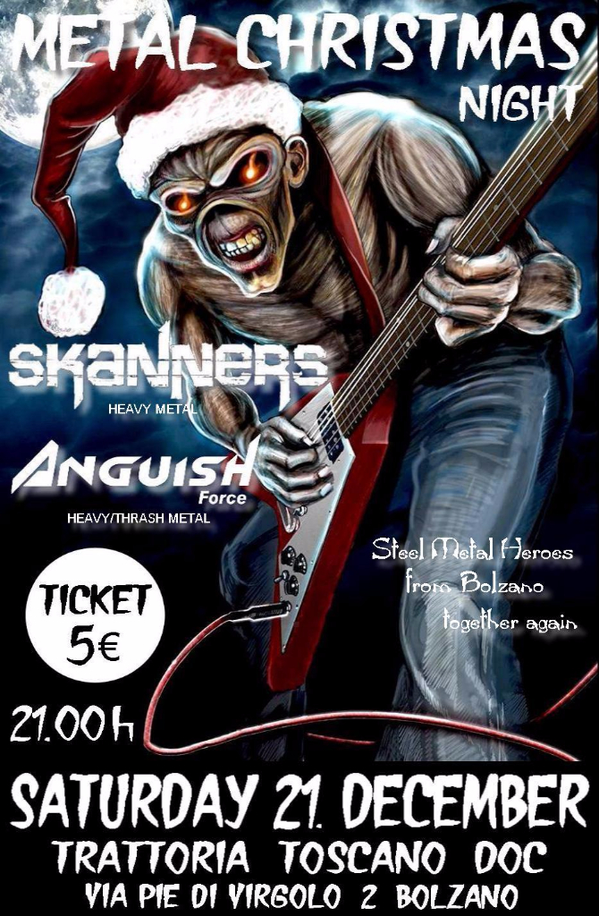 Metal Christmas Night Skanners Anguish Force - Flyers - others