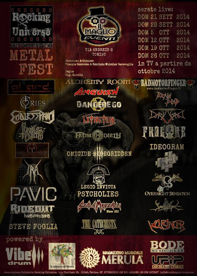 Rocking Universe Metal Fest Anguish Force - Flyers - others