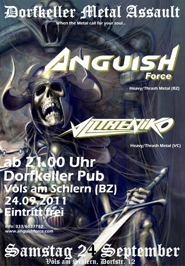 anguish force dorfkeller 2011 20110901 2066472416 - Flyers - others