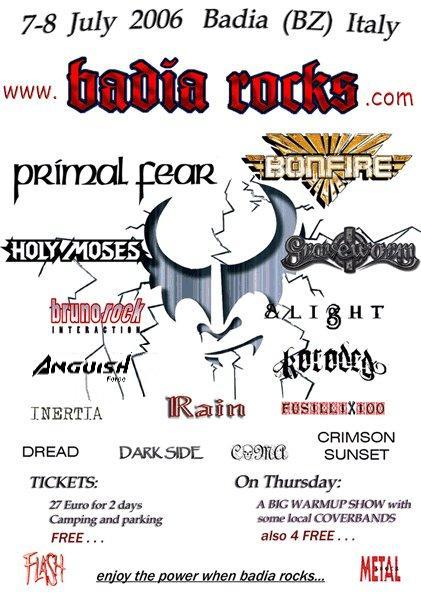 badia rocks 2006 anguish force - Flyers - others
