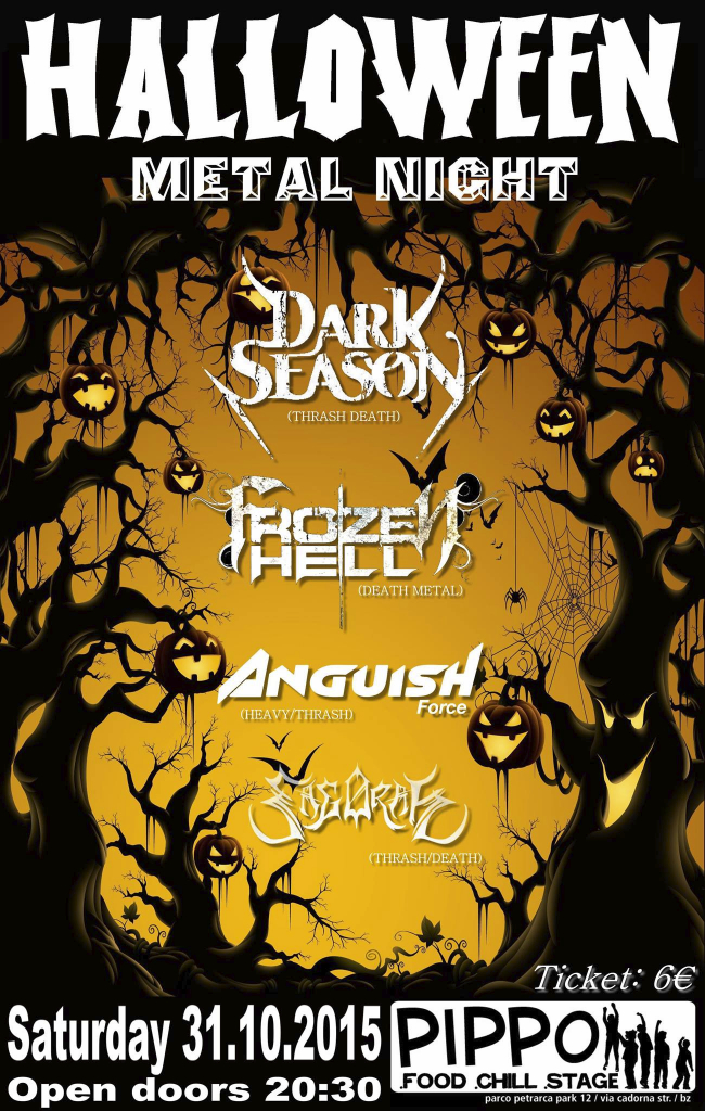 halloween metal night anguish force - Flyers - others