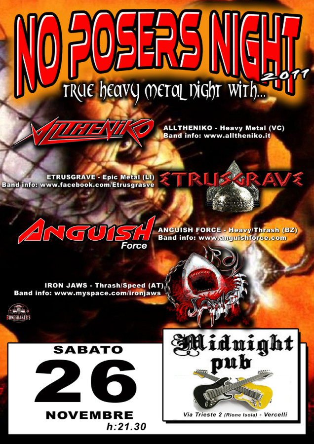 no posers night 2   anguish force 20111107 1496272450 - Flyers - others