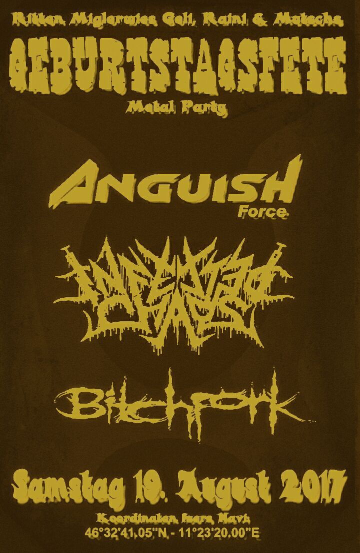 ANGUISH FORCE RITTEN - Flyers - others