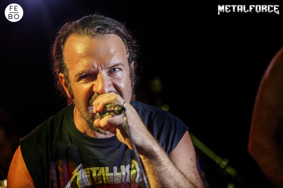 ANGUISH FORCE Efesto Metal Bresso 7 - KINNALL - vocals - band