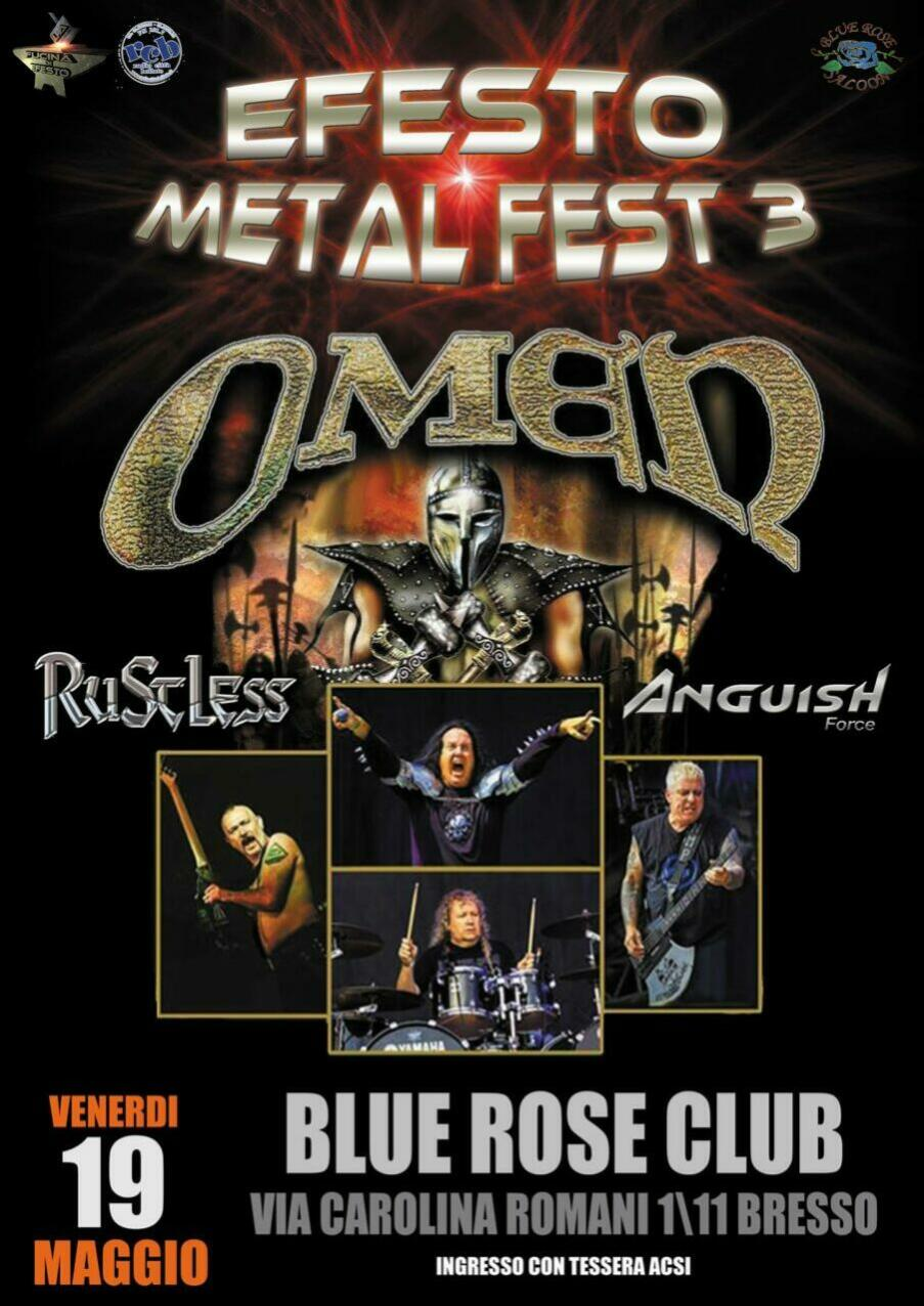 ANGUISH FORCE OMEN RUSTLESS EFESTO METAL FEST - Flyers - others