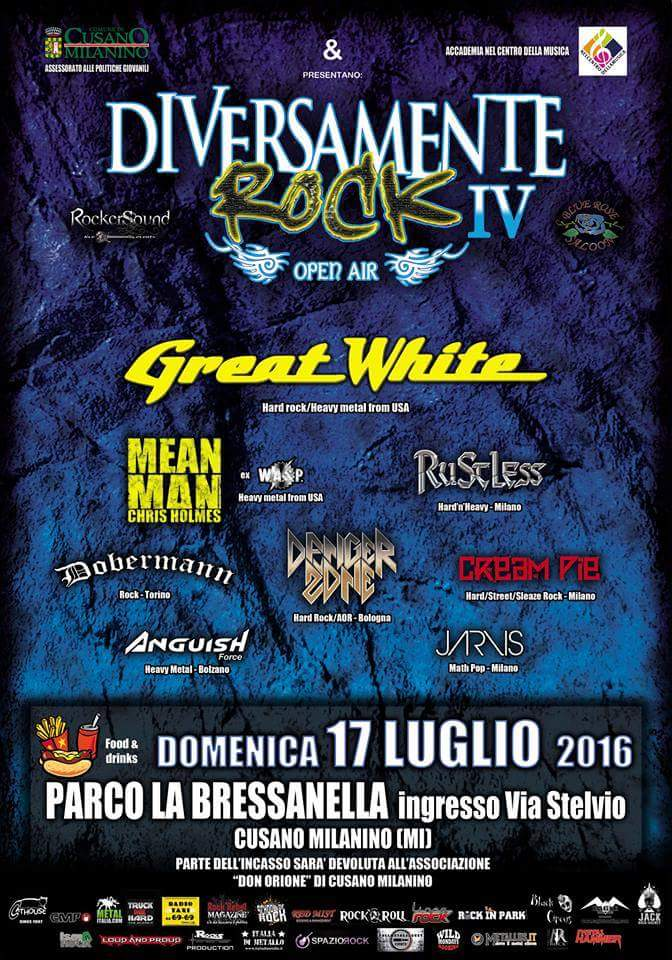 Anguish Force great white diversamente rock - On stage in July with Great White - news-news news