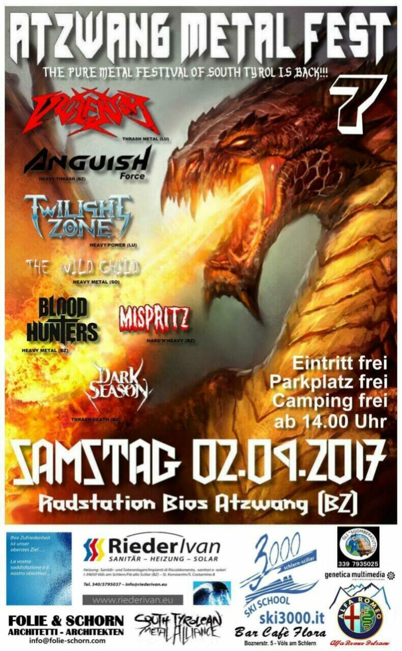 Atzwang Metal Fest 2017 anguish force violentor2 - New live dates - news-news
